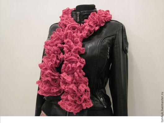 Шарфы и шарфики ручной работы. Ярмарка Мастеров - ручная работа. Купить Ажурные шарфы. Handmade. Шарф вязаный