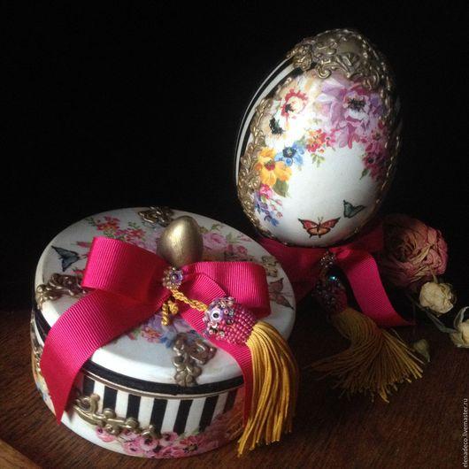 """Подарки на Пасху ручной работы. Ярмарка Мастеров - ручная работа. Купить """"Рококо"""" Шкатулочка и Яйцо. Handmade. Комбинированный, пасхальные яйца"""
