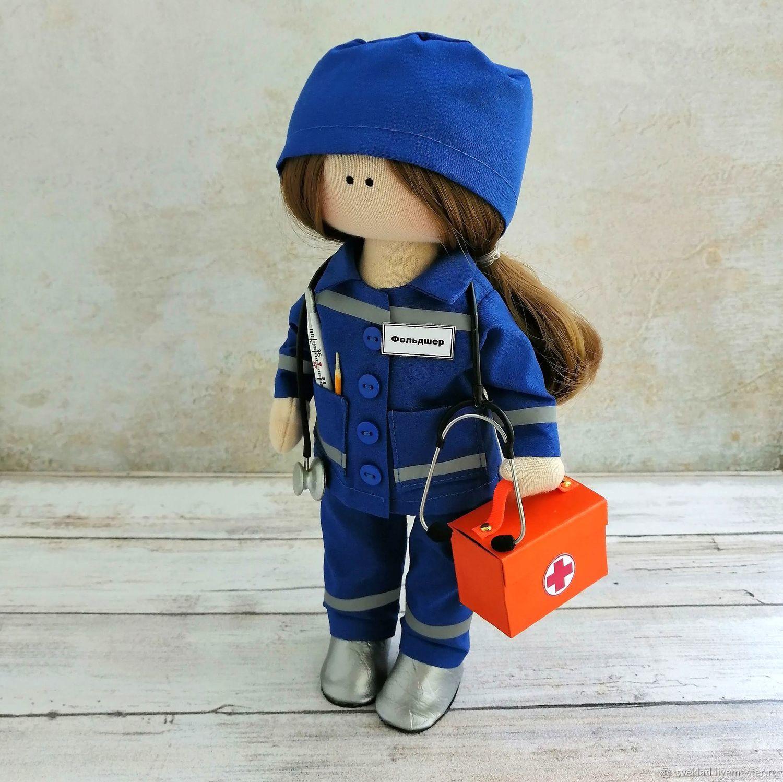 Кукла Фельдшер (врач скорой помощи), Тыквоголовка, Тольятти,  Фото №1