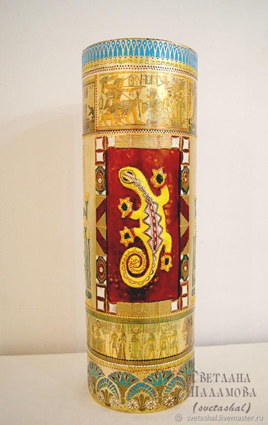 """Картины цветов ручной работы. Ярмарка Мастеров - ручная работа. Купить Большая стеклянная ваза """"Египет"""". Handmade. Африка, комбинированный"""
