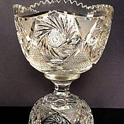 Винтаж handmade. Livemaster - original item Rare! Vase two in one crystal Czech Republic Bohemia 2 Thursdays. 20V. Handmade.