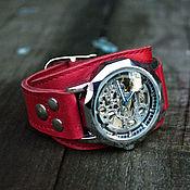 Украшения ручной работы. Ярмарка Мастеров - ручная работа Часы наручные женские Aviator Red. Handmade.