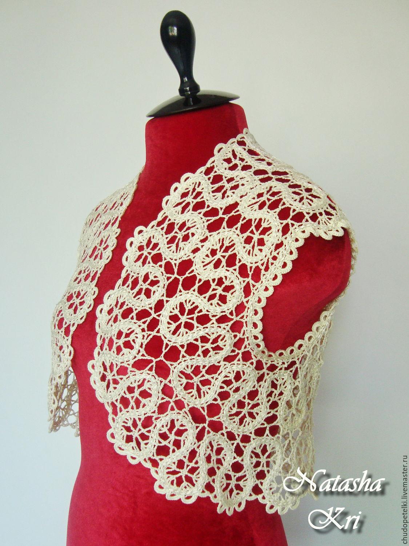 Брюггское вязание шали