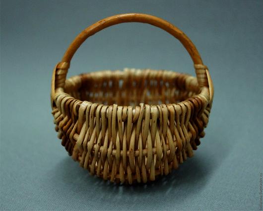 Другие виды рукоделия ручной работы. Ярмарка Мастеров - ручная работа. Купить Лукошко из лозы 8х8 см. Handmade.