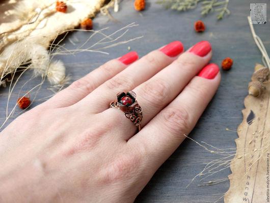 """Кольца ручной работы. Ярмарка Мастеров - ручная работа. Купить Кольцо """"Я подарю их красный цвет зори""""    арт. 16203. Handmade."""