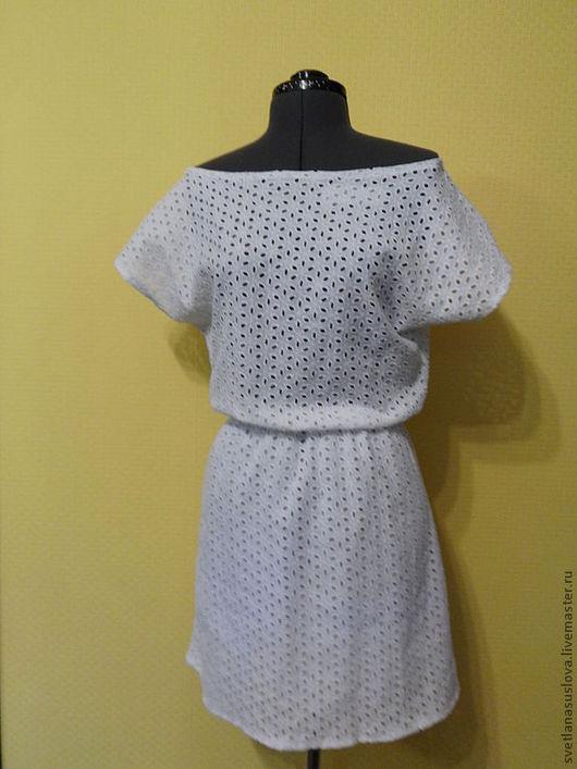 Платья ручной работы. Ярмарка Мастеров - ручная работа. Купить Летнее платье.. Handmade. Белый, платье летнее, прошва