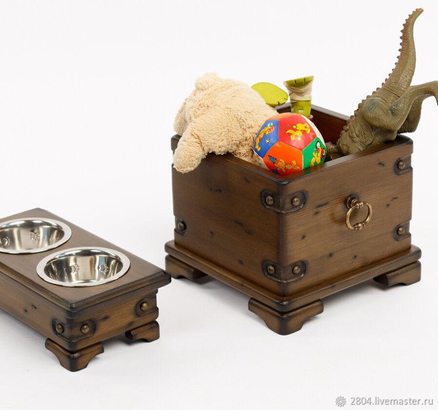 Аксессуары для собак, ручной работы. Ярмарка Мастеров - ручная работа. Купить Ящик для собачьих игрушек. Handmade. Ящик для игрушек