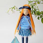 Куклы и игрушки ручной работы. Ярмарка Мастеров - ручная работа Марьяна. Текстильная интерьерная кукла с длинными рыжими волосами. Handmade.