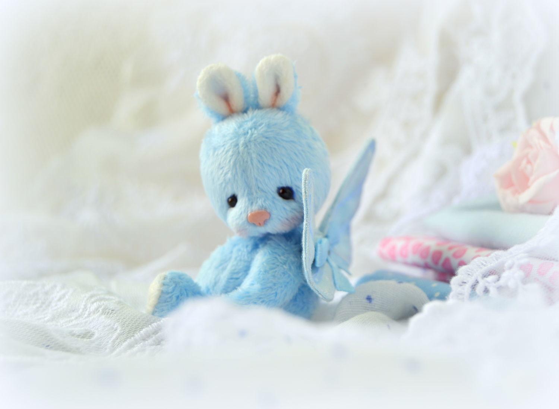 Мишки Тедди ручной работы. Ярмарка Мастеров - ручная работа. Купить Тиша (6 см). Handmade. Ангел, подарок, миник