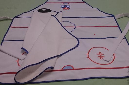 Кухня ручной работы. Ярмарка Мастеров - ручная работа. Купить Фартук и полотенце для любителей хоккея.. Handmade. Комбинированный, полотенце, полиэстер