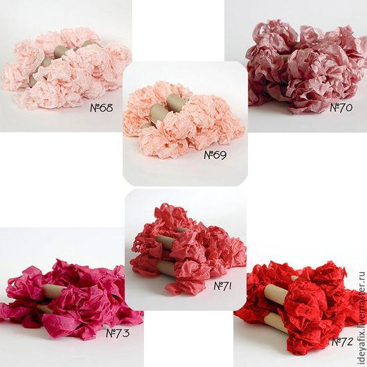 Цвета: № 68 - розово-персиковый светый, № 69 - утренняя роза, № 70 - винтажная роза, № 71 - арбузный, №72 - ярко-красный.