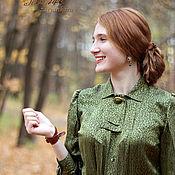Одежда ручной работы. Ярмарка Мастеров - ручная работа Блузка из шёлка Искристая. Handmade.