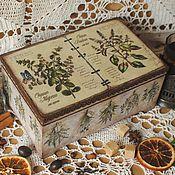 """Для дома и интерьера ручной работы. Ярмарка Мастеров - ручная работа Чайная шкатулка """"Herbs"""". Handmade."""