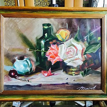 Картины и панно ручной работы. Ярмарка Мастеров - ручная работа Натюрморт 30*40 масло. Handmade.