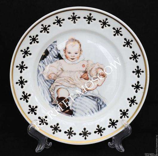 Винтажные предметы интерьера. Ярмарка Мастеров - ручная работа. Купить Панно тарелка Carl larsson Копенгаген Дания 34. Handmade.
