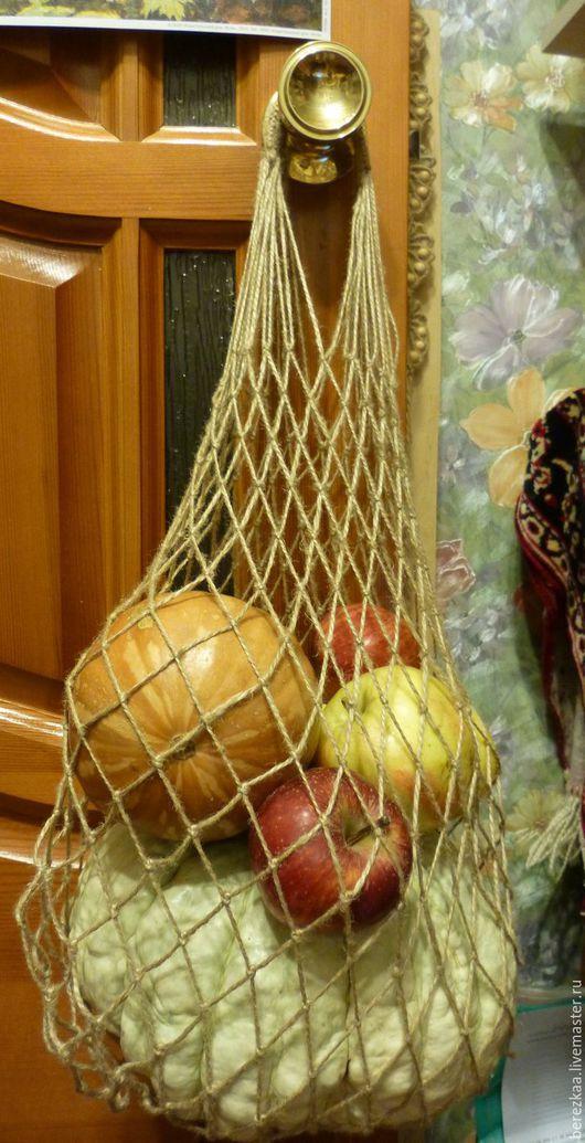 Сумки и аксессуары ручной работы. Ярмарка Мастеров - ручная работа. Купить Авоська. Handmade. Золотой, Экосумка, джутовая авоська