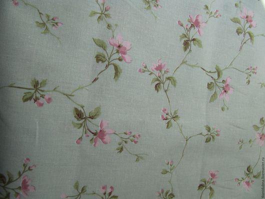 """Шитье ручной работы. Ярмарка Мастеров - ручная работа. Купить Бязь """"Весенний цветок"""". Handmade. Салатовый, ткань для одежды, ткань"""