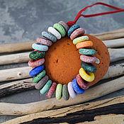 Материалы для творчества manualidades. Livemaster - hecho a mano Granos multicolor antiguo 26pcs. Handmade.