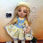 Куклы и пупсы ручной работы. Ярмарка Мастеров - ручная работа Солнышко. Текстильная кукла с объемным лицом. Handmade.