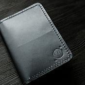 Чехол ручной работы. Ярмарка Мастеров - ручная работа Кожаная обложка для документов (паспорта) черная. Handmade.