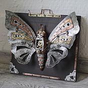 """Картины и панно ручной работы. Ярмарка Мастеров - ручная работа Панно стимпанк """"Бабочка"""". Handmade."""