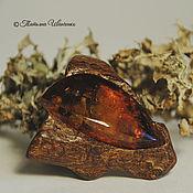Украшения handmade. Livemaster - original item a ring of wood with amber ATTRACTION 1. Handmade.