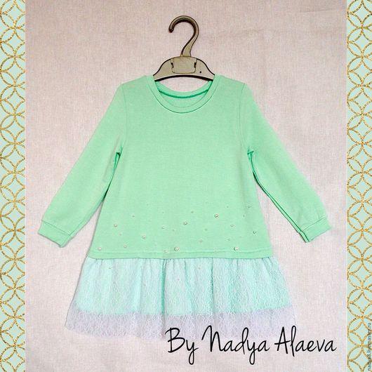"""Одежда для девочек, ручной работы. Ярмарка Мастеров - ручная работа. Купить Платье для девочки """"Сладкая мята"""". Handmade. Платье для девочки"""