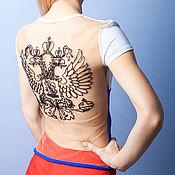 Одежда ручной работы. Ярмарка Мастеров - ручная работа футболка с вышивкой. Handmade.