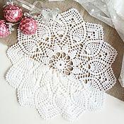 Для дома и интерьера handmade. Livemaster - original item Crochet doily, diameter 29 cm any color. Handmade.