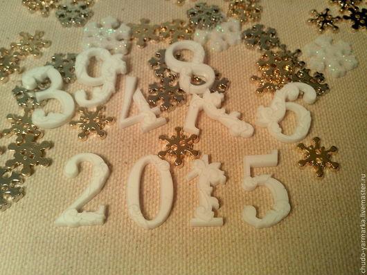 Открытки и скрапбукинг ручной работы. Ярмарка Мастеров - ручная работа. Купить Декоративный элемент для скрапбукинга новый год 2016 цифры. Handmade.