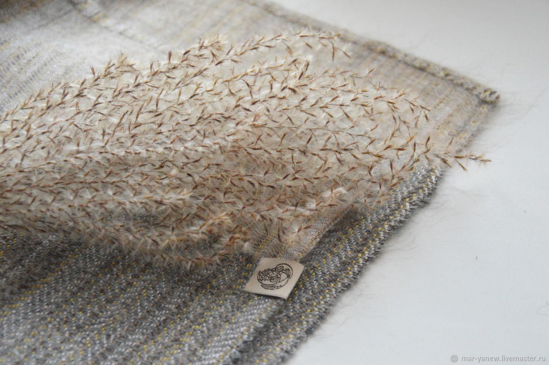 Stole ' Golden mist'. Hand weaving, Wraps, Smolensk,  Фото №1