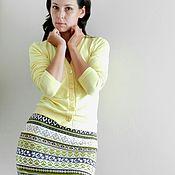 """Одежда ручной работы. Ярмарка Мастеров - ручная работа вязаная жаккардовая юбка """"Оливочка"""". Handmade."""