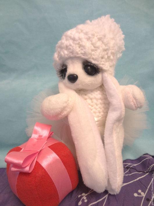 Мишки Тедди ручной работы. Ярмарка Мастеров - ручная работа. Купить Зайка Снежинка для Нового Года в стиле Тедди. Handmade.