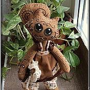"""Куклы и игрушки ручной работы. Ярмарка Мастеров - ручная работа Кофейная кошечка """"Печенька"""", текстильная кукла. Handmade."""