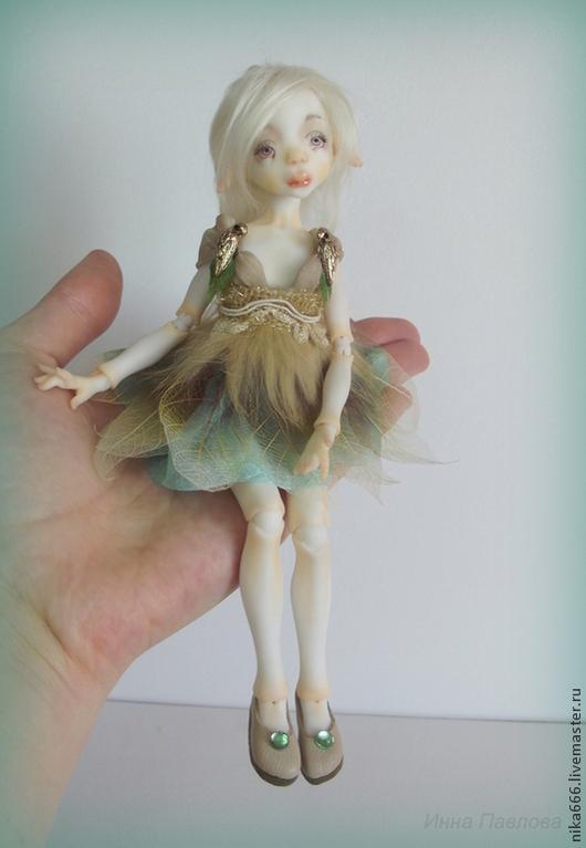 Коллекционные куклы ручной работы. Ярмарка Мастеров - ручная работа. Купить Шарнирная кукла Лесная эльфочка. Handmade. Белый