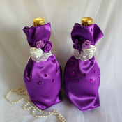 Свадебный салон ручной работы. Ярмарка Мастеров - ручная работа Мешочки для бутылок. Handmade.