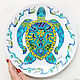 'Turtle-mastermind ' plate on the wall. Decorative plates. Art by Tanya Shest. My Livemaster. Фото №6