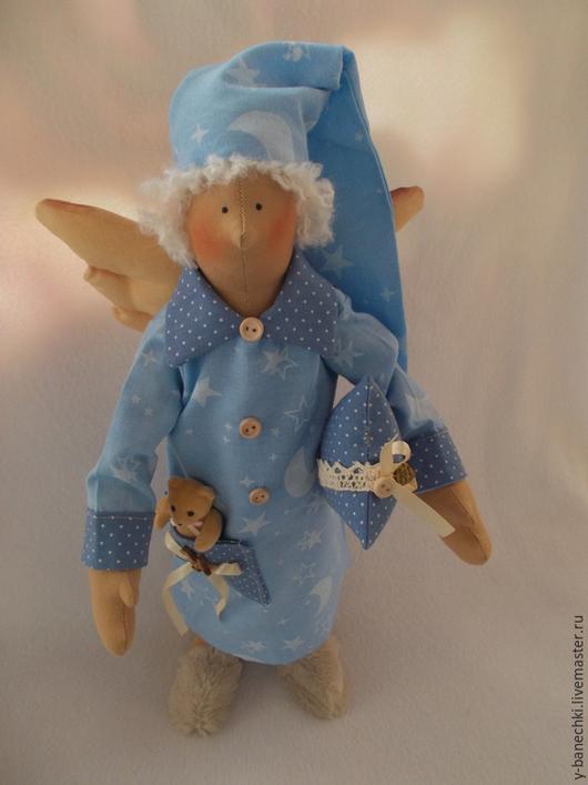 Куклы Тильды ручной работы. Ярмарка Мастеров - ручная работа. Купить Сонный Ангел. Handmade. Голубой, назаказ, декоративные элементы