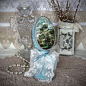 Подарки к праздникам handmade. Livemaster - original item Easter egg decorative with natural mother of pearl, Temple. Handmade.