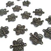 Материалы для творчества handmade. Livemaster - original item Connector Butterfly bronze, accessories for jewelry. Handmade.