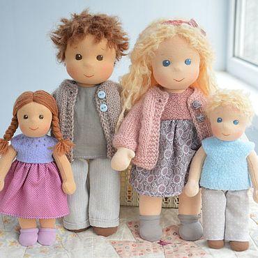 Куклы и игрушки ручной работы. Ярмарка Мастеров - ручная работа Вальдорфская кукла Семья. Handmade.