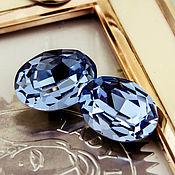 Материалы для творчества handmade. Livemaster - original item Premium Oval Crystals 18h13 Light Sapphire. Blue. 4120. Handmade.