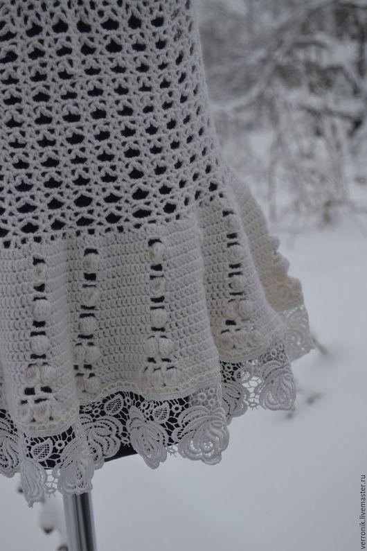 Одежда. Кофты и свитера ручной работы.  Ярмарка мастеров- ручная работа.  Пуловер вязаный `Белые кружева`. Пуловер вязаный Белые кружева`` купить. Белый. Handmade. Магазин мастера Доминика.