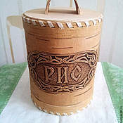 Jars handmade. Livemaster - original item Birch bark basket. birch bark for rice. The product of birch bark for storage of cereals. Handmade.