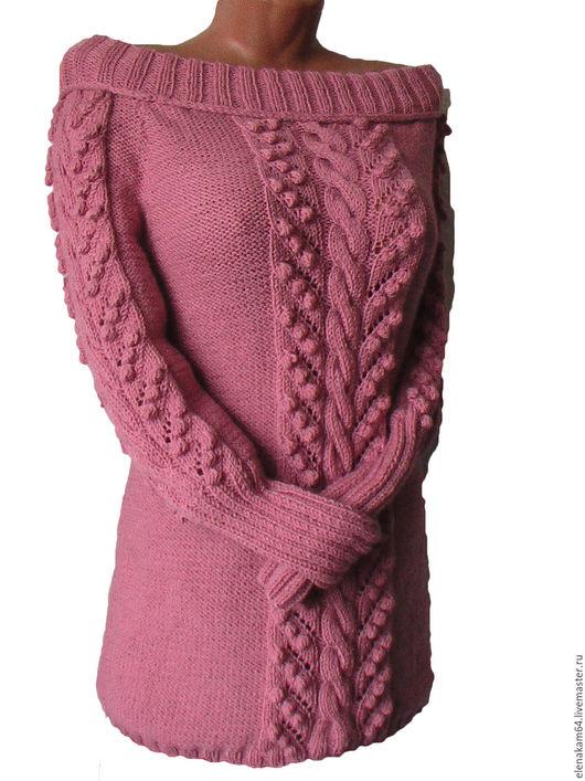 Кофты и свитера ручной работы. Ярмарка Мастеров - ручная работа. Купить туника вязаная, пуловер женский вязаный. Handmade.