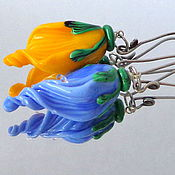 Украшения handmade. Livemaster - original item Earrings Colorful buds lampwork. Handmade.