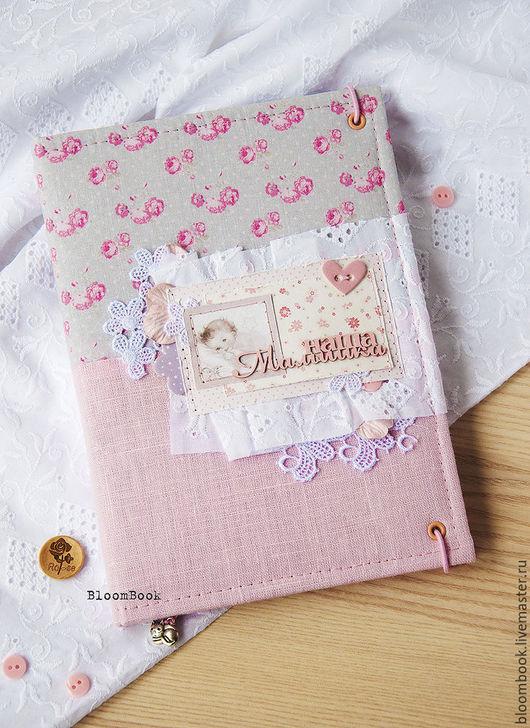 Для новорожденных, ручной работы. Ярмарка Мастеров - ручная работа. Купить Бебибук - мамин дневник для девочки. Handmade. Комбинированный, для малышей