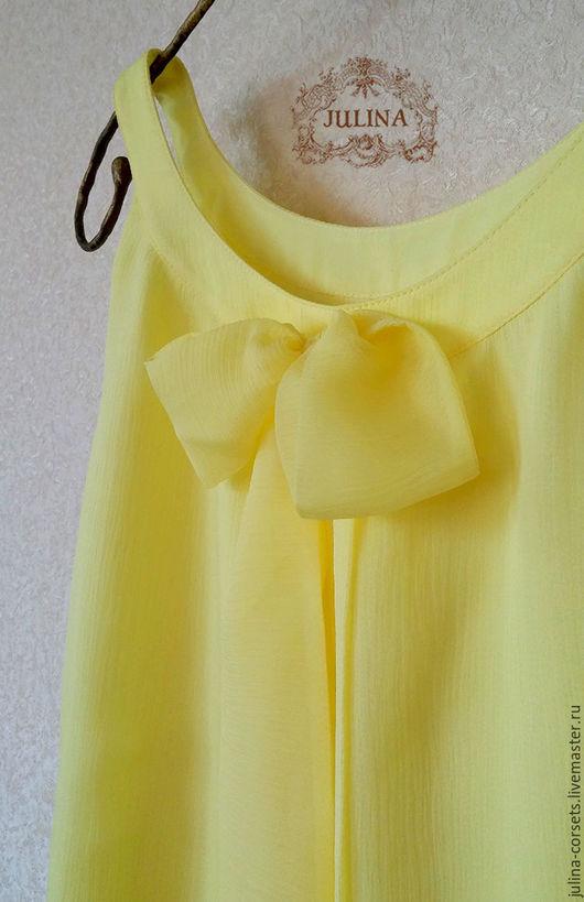 """Блузки ручной работы. Ярмарка Мастеров - ручная работа. Купить Блузка шелковая """"Лигурийский лимон"""". Handmade. Желтый, солнце"""
