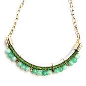 Украшения handmade. Livemaster - original item Leather necklace with agates