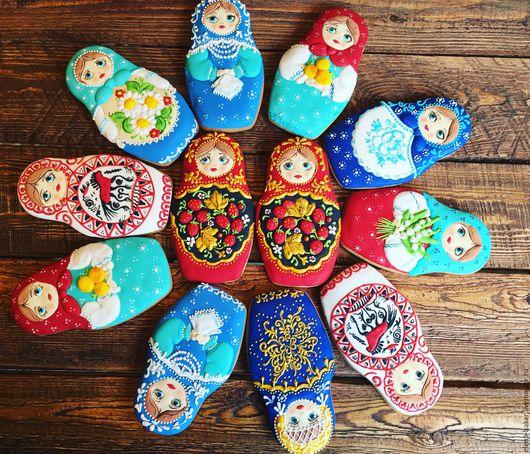 Кулинарные сувениры ручной работы. Ярмарка Мастеров - ручная работа. Купить Матрёшка. Handmade. Комбинированный, русский сувенир, пряник, кукла
